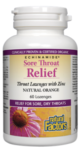 Sore Throat Relief, Natural Orange ECHINAMIDE®