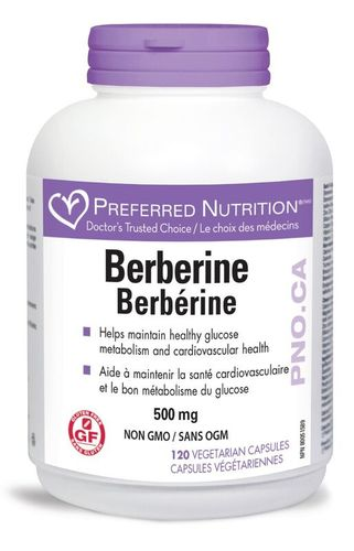 Preferred Nutrition Berberine 500mg 120 vegicaps