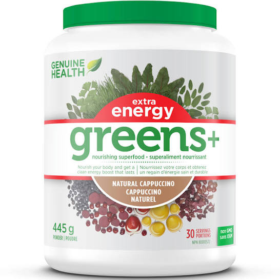Genuine Health Greens+ extra energy Cappuccino 445g