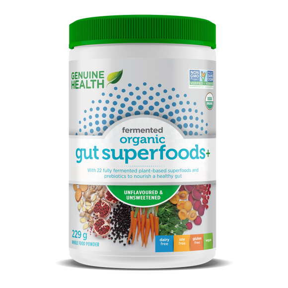 fermented organic gut superfoods+ unflavoured/unsweetened 229g