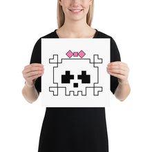 Load image into Gallery viewer, Lady Pixel Skull Poster-Malwear + Co-Malwear + Co