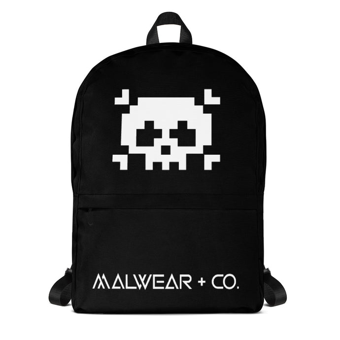 Pixel Skull Backpack-Malwear + Co-Malwear + Co