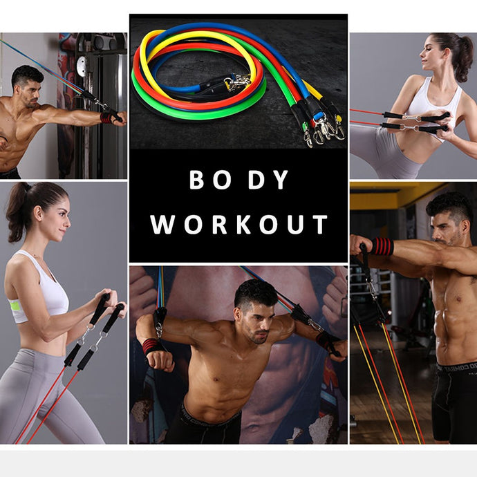 Home Body Workout with Resistance Bands