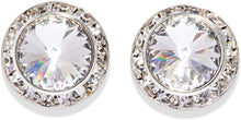 Load image into Gallery viewer, Dasha Earrings Crystal/Aurora Borealis in 12/17mm.
