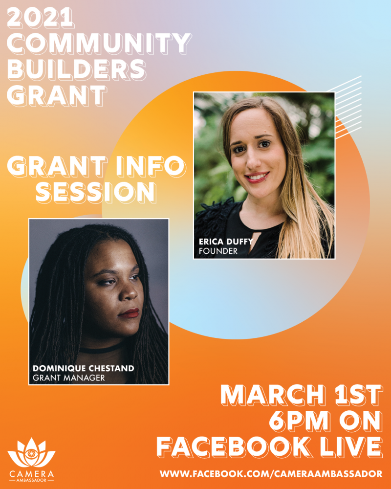 2021 Community Builders Grant Info Session. March 1st. 6pm. Facebook Live.