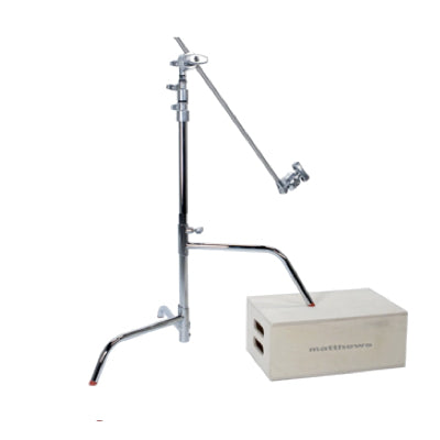 "Matthews Baby C-Stand With Gobo Head & 20"" Arm (Silver, Sliding Leg)"