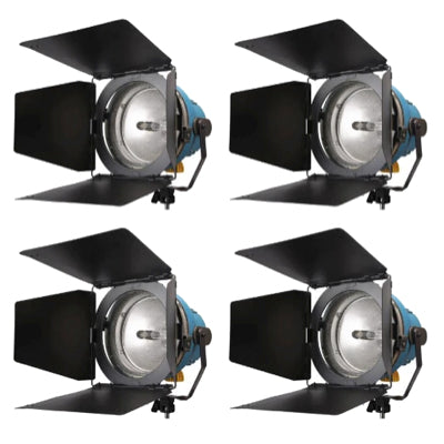 Arri Arrilite (4) 1000W Open Face Light Kit