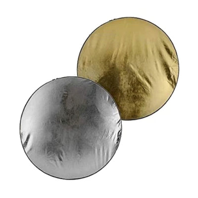 "Fotodiox 42"" Reversible & Collapsible Reflector Disc: White/Silver & Gold/Bounce"