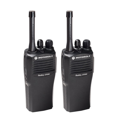 Motorola CP200 (2) Walkie Talkie Kit