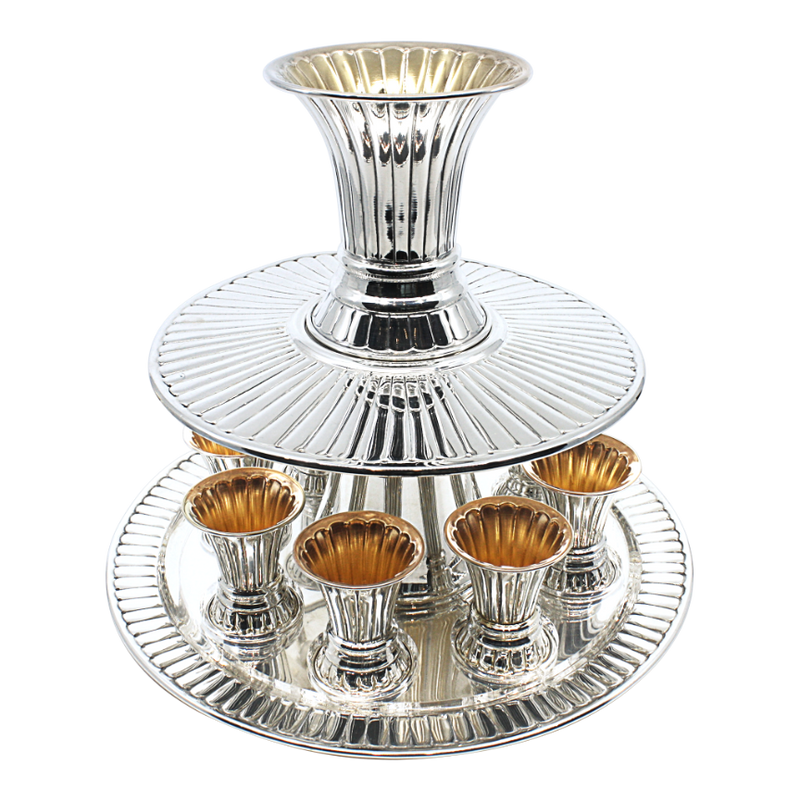 Striped Kiddush Wine Fountain 8
