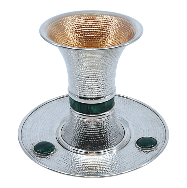 Spotted Modern Malachite Kiddush Cup