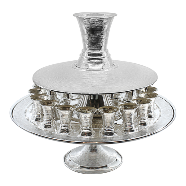 Large Spotted Kiddush Fountain- 18 Guests on stand
