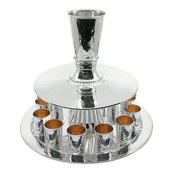 Softly Hammered Wine Fountain For 12