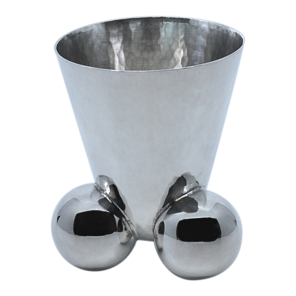 Modern Three Orbs Kiddush Cup