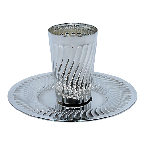 Porto Striped Silver Kiddush Cup
