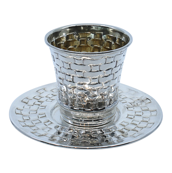 Small Braided Shabbat Kiddush Cup