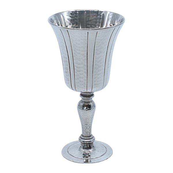 Striped Sterling Silver HL kiddush Cup