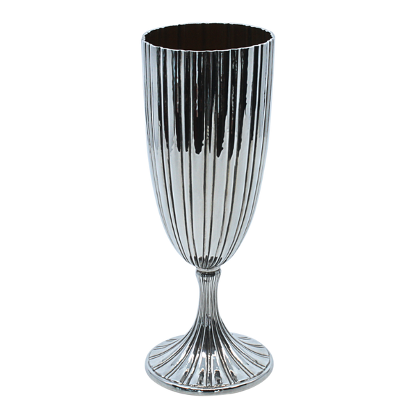 Modern Striped Sterling Silver Kiddush Glass