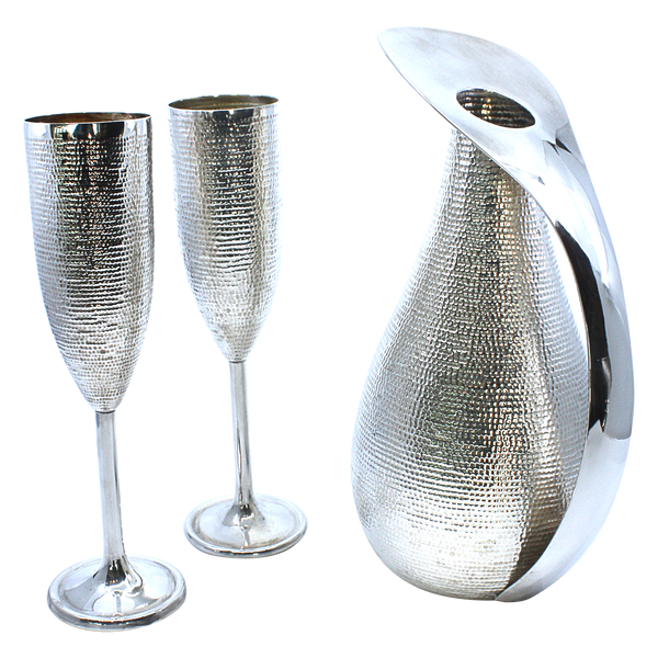 Pitcher and Champagne Glasses