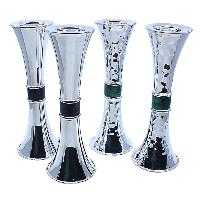Royal stone Hourglass Candlesticks