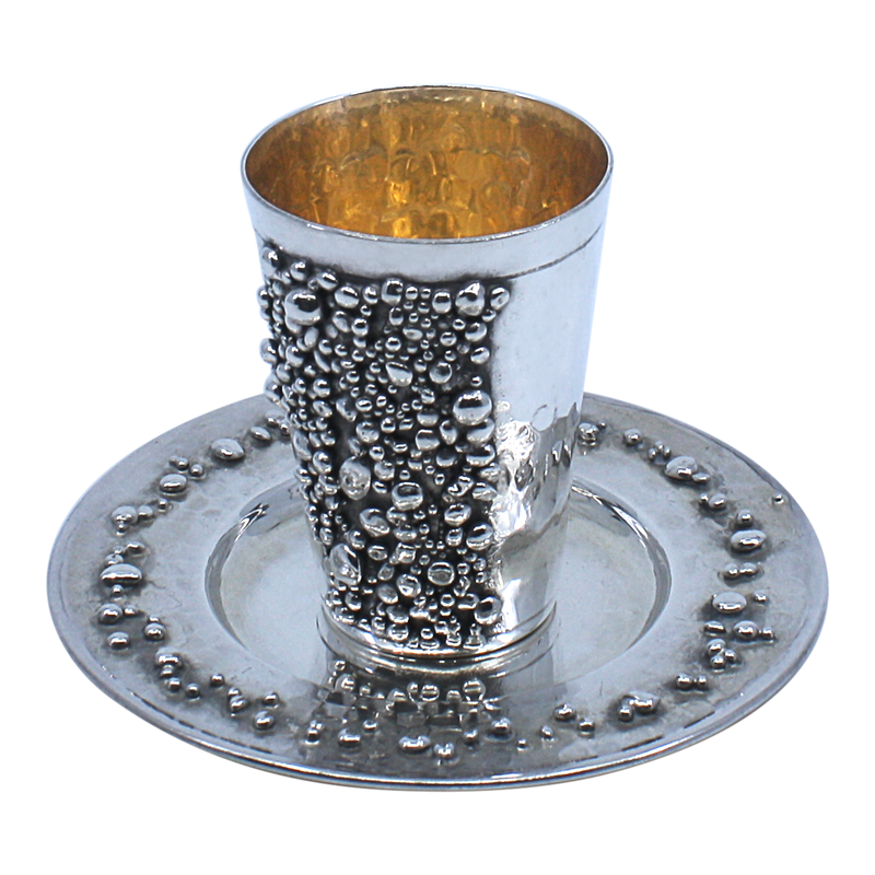Sterling Silver Kiddush Cup and Plate Clearance 6906