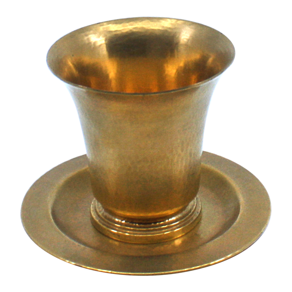 Gold plated Sterling Silver Big Cup and Tray Clearance 6923