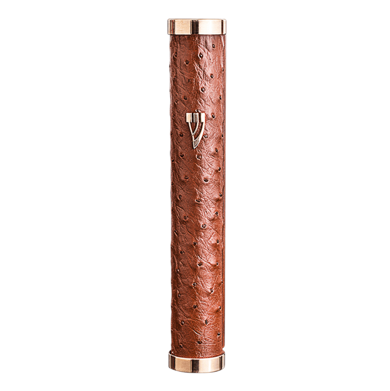 Brown Leather Mezuzah