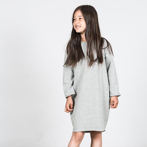 Anita Dress Grey Melange - Beau Beau Shop