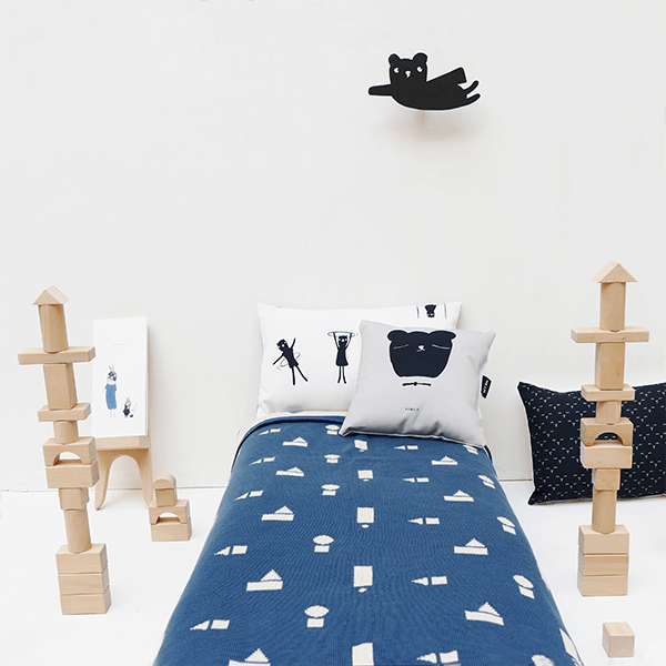 Blue Blocks Decke - Beau Beau Shop