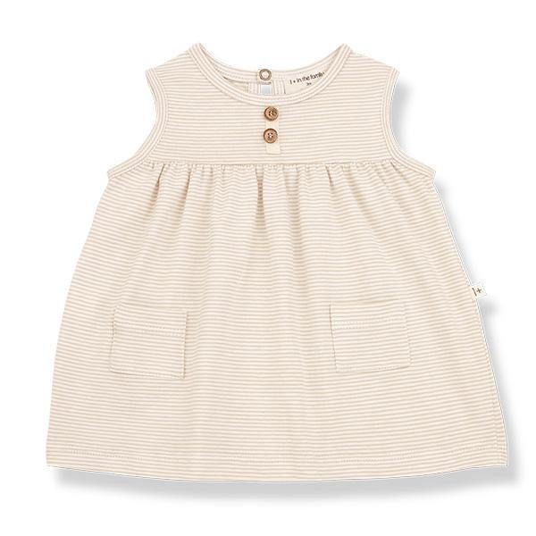 Clara Dress Beige - Beau Beau Shop