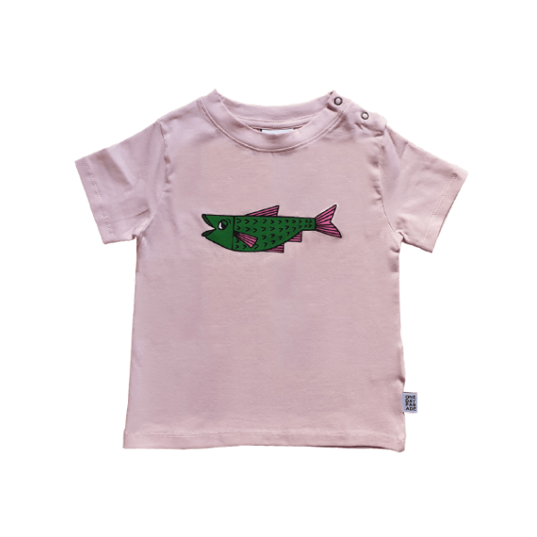 T-Shirt Lila Fish - Beau Beau Shop