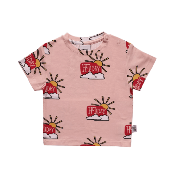T-Shirt Pink Holiday - Beau Beau Shop