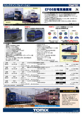 (Pre-Order) TOMIX 7142 - Electric Locomotive Type EF66-0 (earlier version)