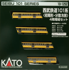 KATO 10-1252 - Seibu Railway Series 101 (initial type / distributed Air Conditioner / 4 car add-on set)