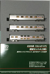"KATO 10-834 - Sleeper Express Series E26 ""CASSIOPEIA"" (3 car add-on set A)"