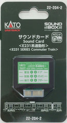 KATO 22-204-2 - Sound Card (Series E231 Commuter Type)