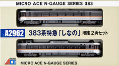 "Microace A2962 - JR Series 383 Limited Express ""SHINANO"" (2 car add-on set)"