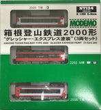 "MODEMO NT134 - Hakone Tozan Railway Type 3000 ""Glacier Express"" Paint (3 car set)"