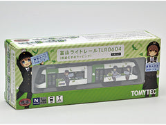 "Tomytec Toyama Light Rail TLR0604 ""Tetsudou Musume"" Wrapping (light green)"