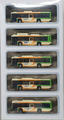 Tomytec Bus Collection - Tokyo Toei Bus ISUZU ERGA 5 Car Set A