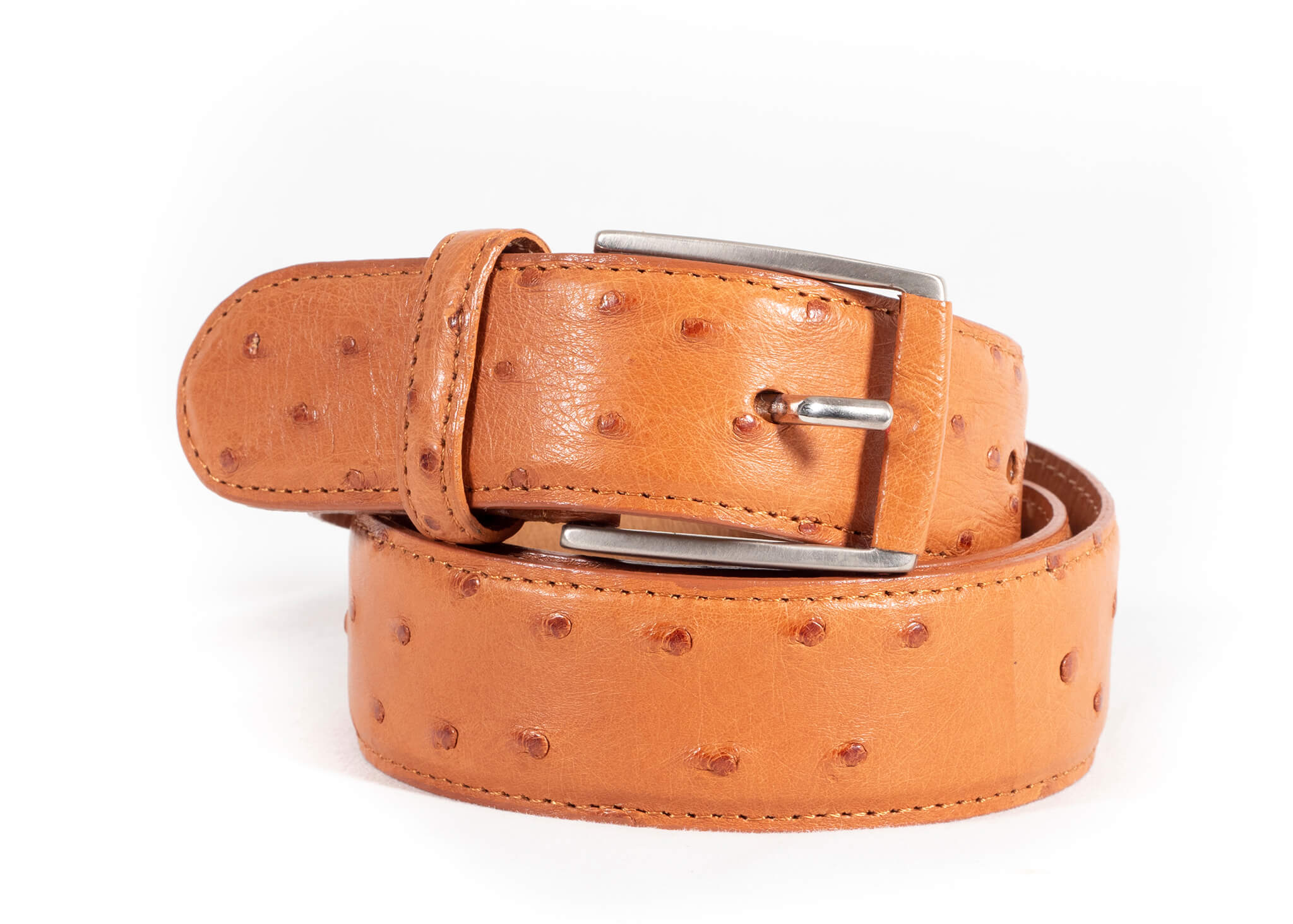 Men's 35mm Full Quill Belt - Cognac