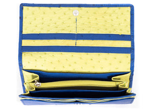 Classic Purse: Multi-Colour Design - ModBlue/Chartreuse