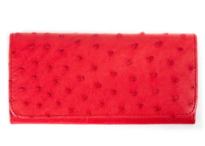 Classic Purse: Multi-Colour Design - Red/Tangerine