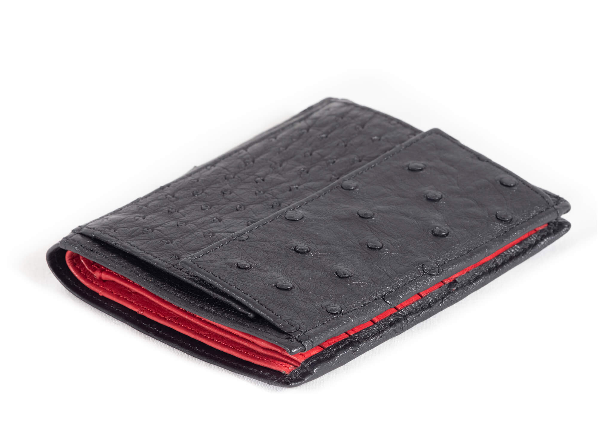 Credit Card Wallet Multi Colour - Black/Red