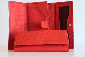 Tri Fold Purse - Single Colour Design - Red