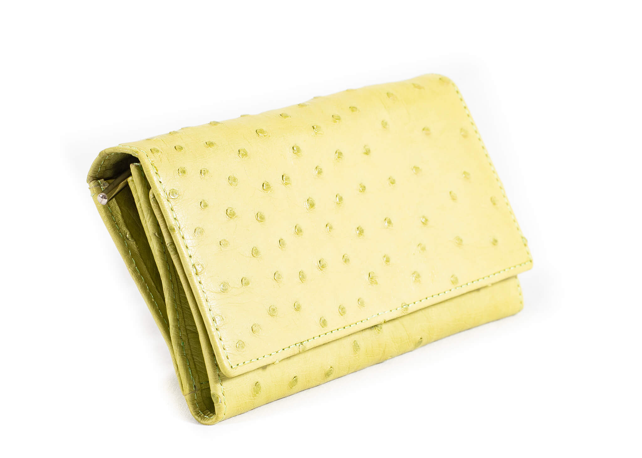 Tri Fold Purse - Single Colour Design - Chartreuse