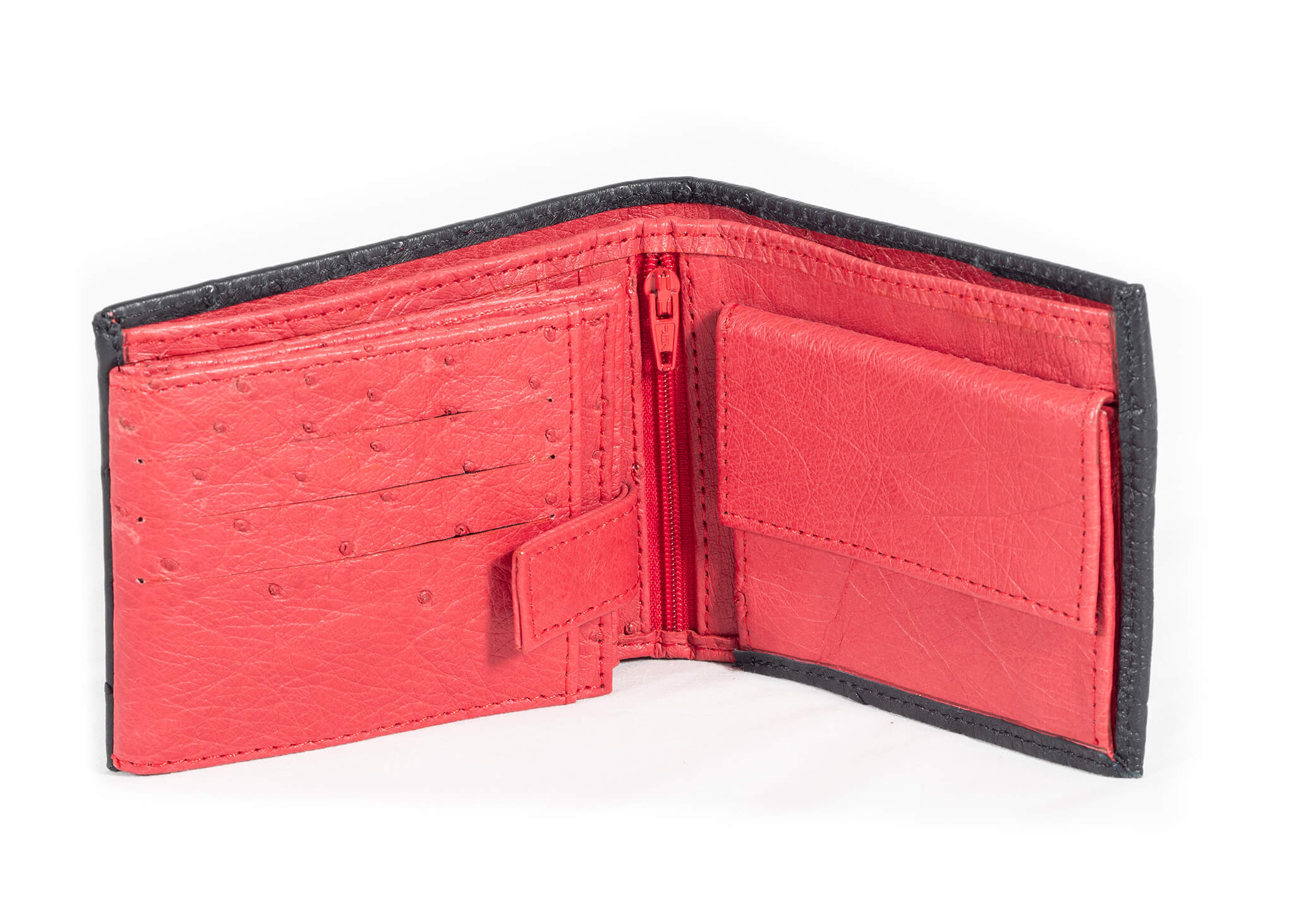 TriFold Wallet Multi Colour - Black/Red