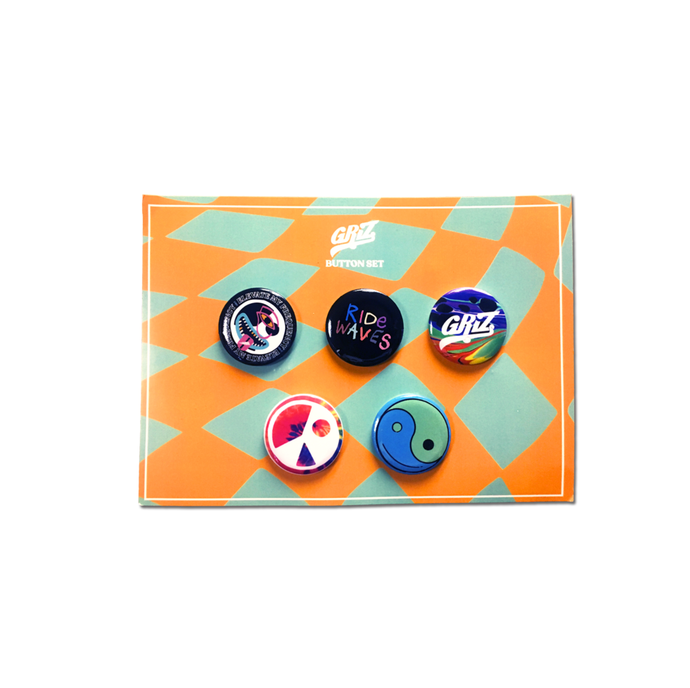 Ride Waves Spring Button Set