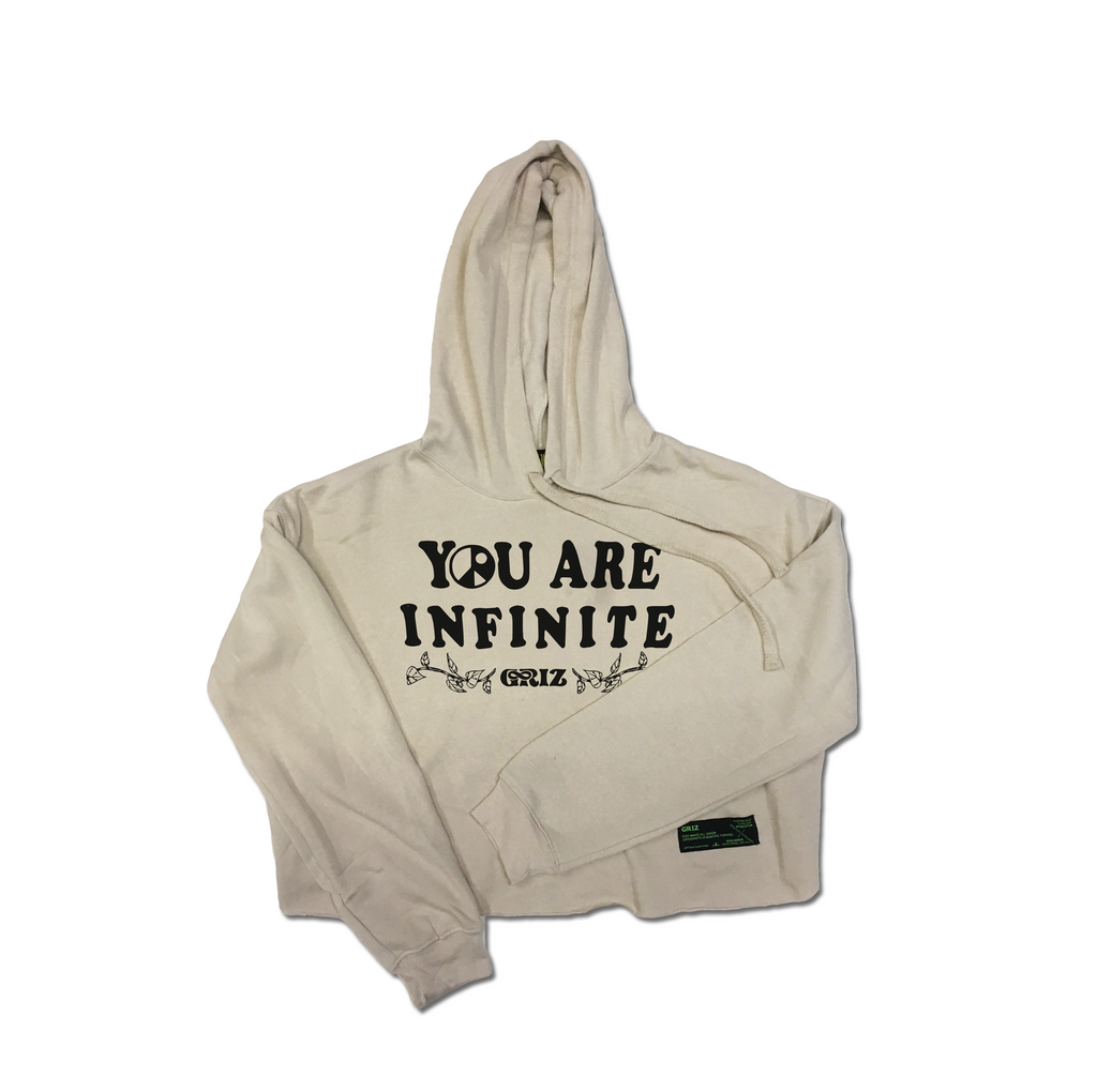 You Are Infinite Crop Hoodie