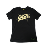 Floral Logo Gold Shimmer Women's Fit T-Shirt